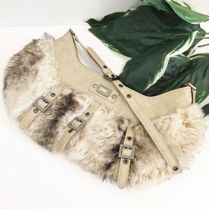 GUESS Faux fur purse